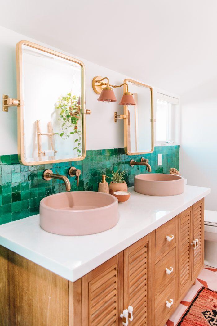 Pink Master Bathroom