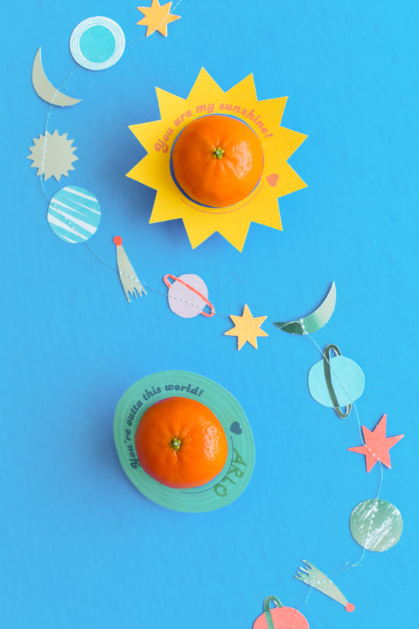 DIY Printable Outer Space Valentines for Toddlers