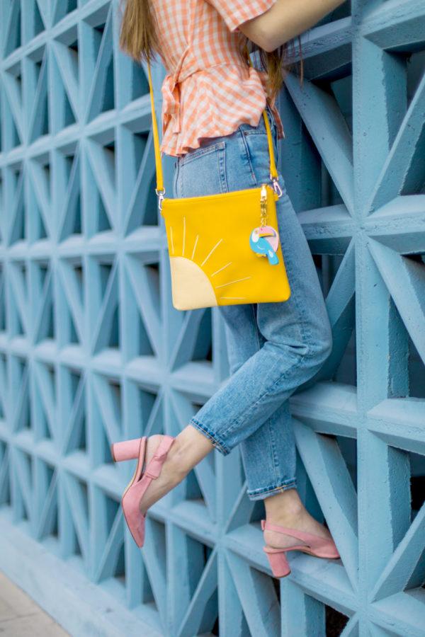 Yellow Sunshine Cross Body Bag