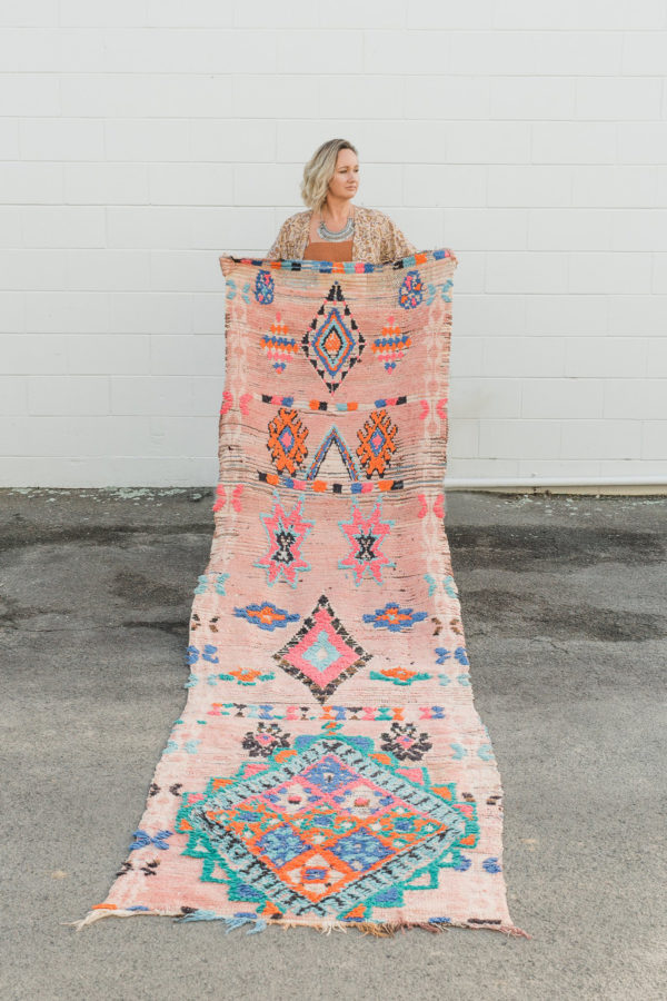 Peach and Neon Moroccan Runner
