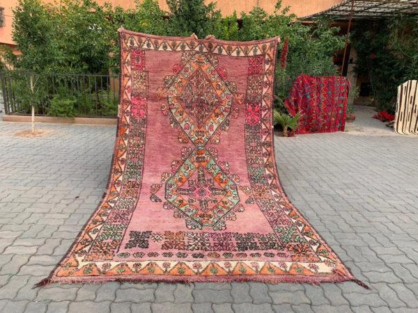 Pink Orange and Aqua Moroccan Rug