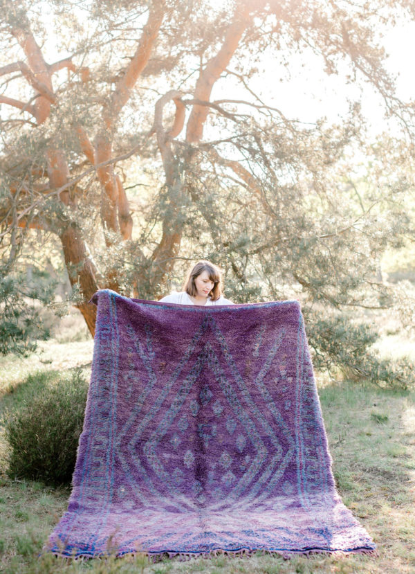 Purple Moroccan Rug
