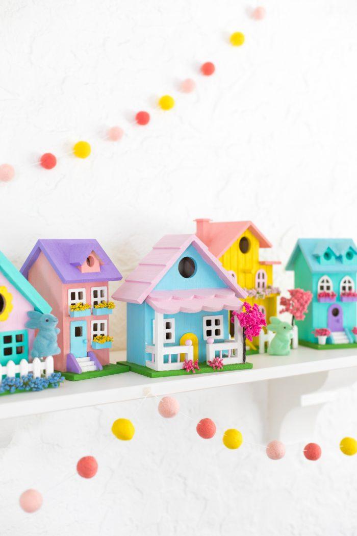 DIY Pastel Easter Village