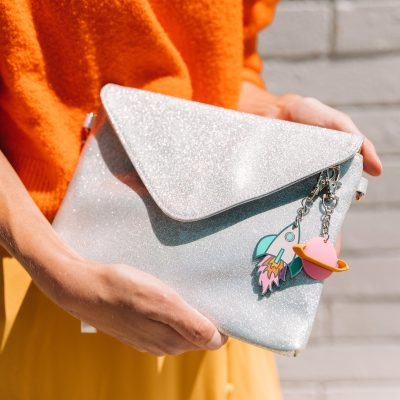 Can't Clutch This: Silver Glitter Clutch