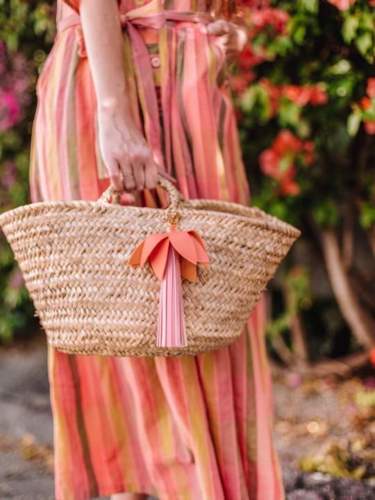 DIY Palm Tree (Faux) Leather Bag Charm