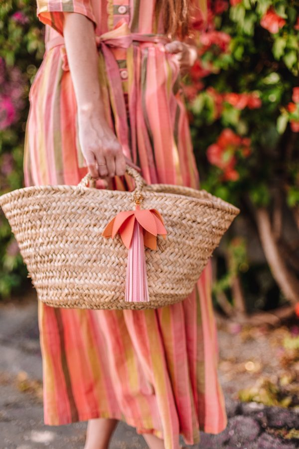 DIY Leather Palm Tree Tassel Bag Charm