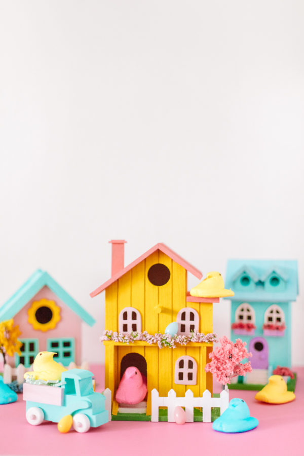 DIY Pastel Easter Village