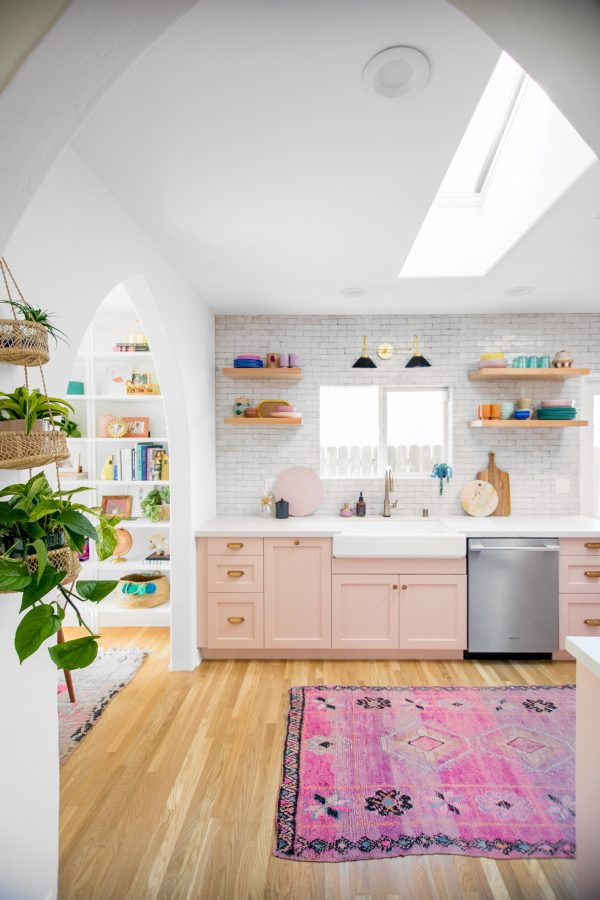 Pink California Kitchen Renovation