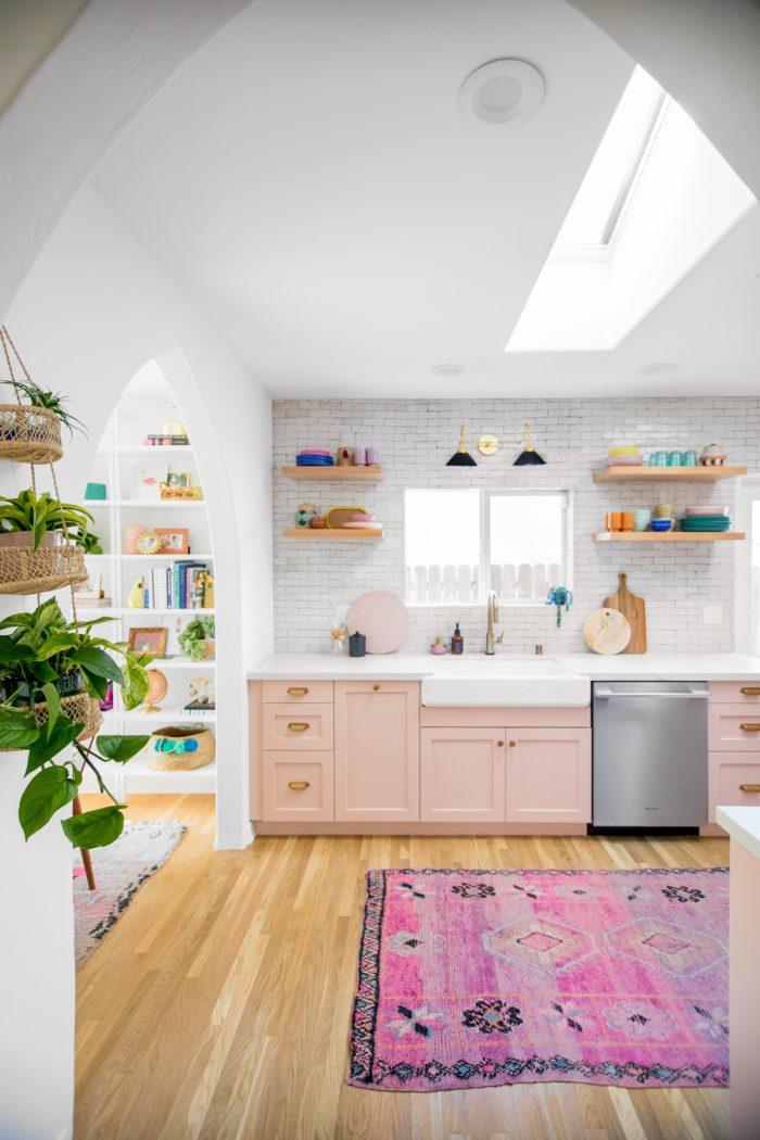 Pink California Kitchen Renovation