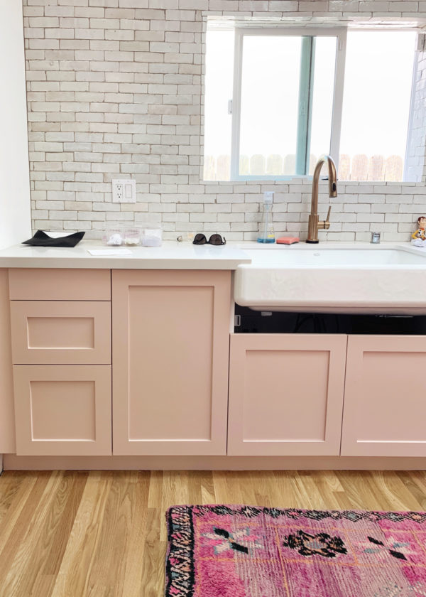 Blush Pink Kitchen Cabinets