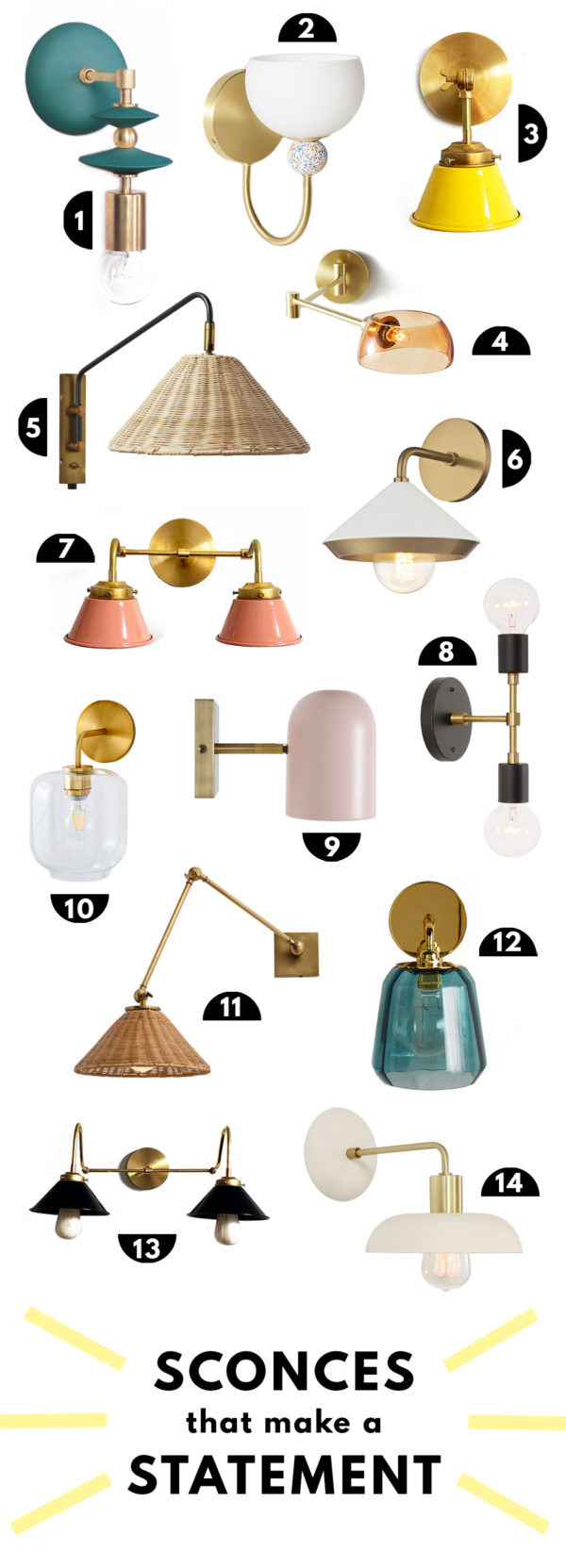 14 Colorful Sconces That Make A Statement