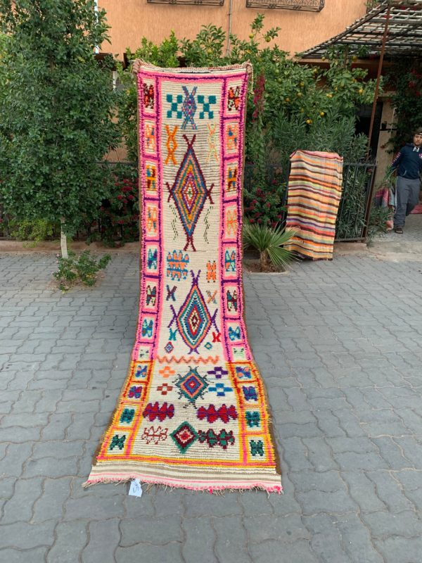 Colorful Vintage Moroccan Runner