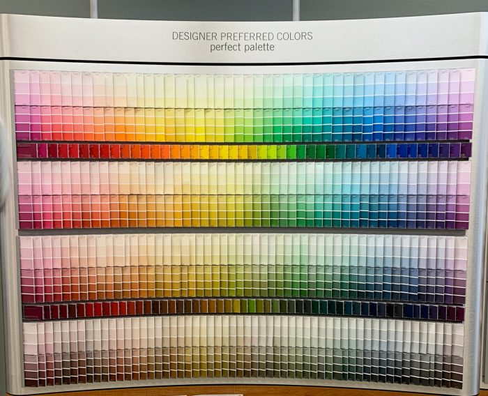 How To Read a Paint Chip Wall