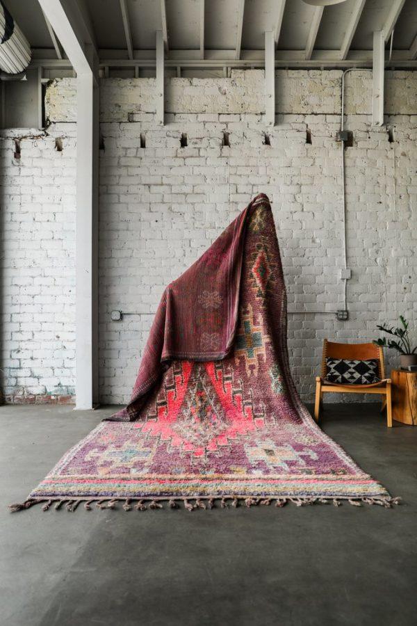 Purple and Pink Vintage Moroccan Rug