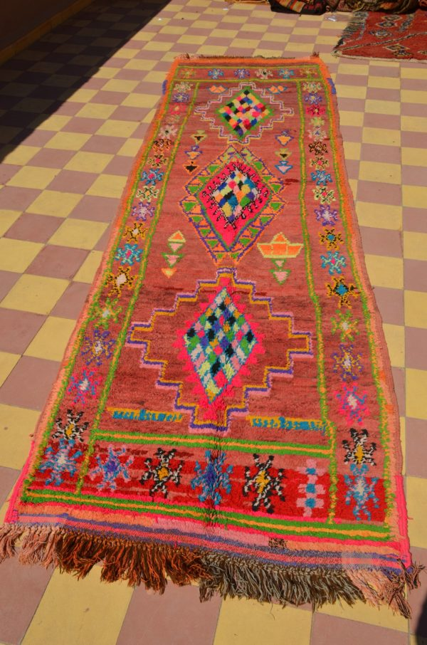 Colorful Neon Vintage Moroccan Runner