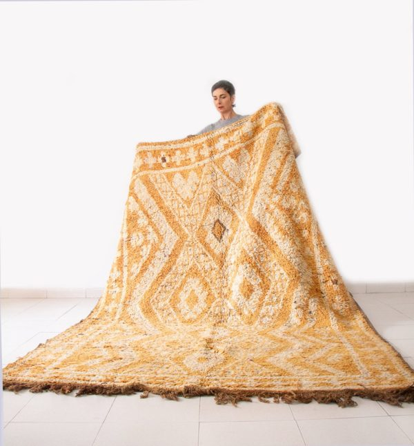 Mustard Yellow Vintage Moroccan Rug
