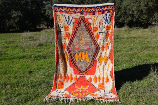Orange Moroccan Rug