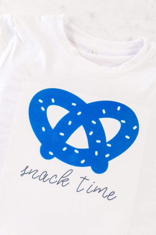 Snack Time T-Shirt with Infusible Ink