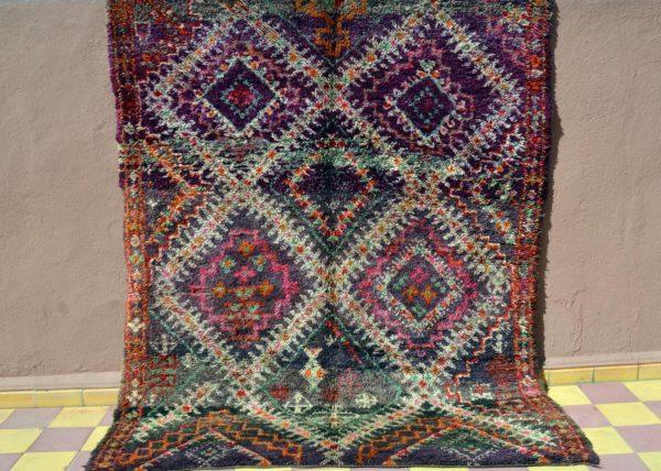 dark colorful vintage moroccan rug