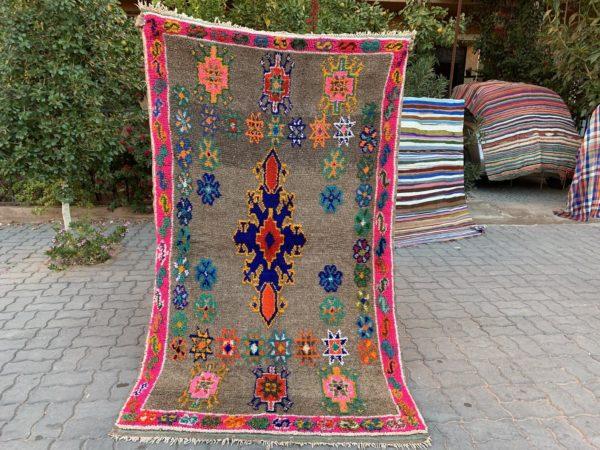 hot pink vintage moroccan rug