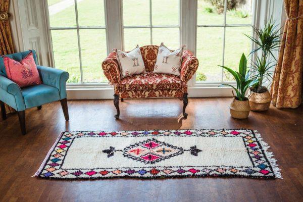 small moroccan rug vintage