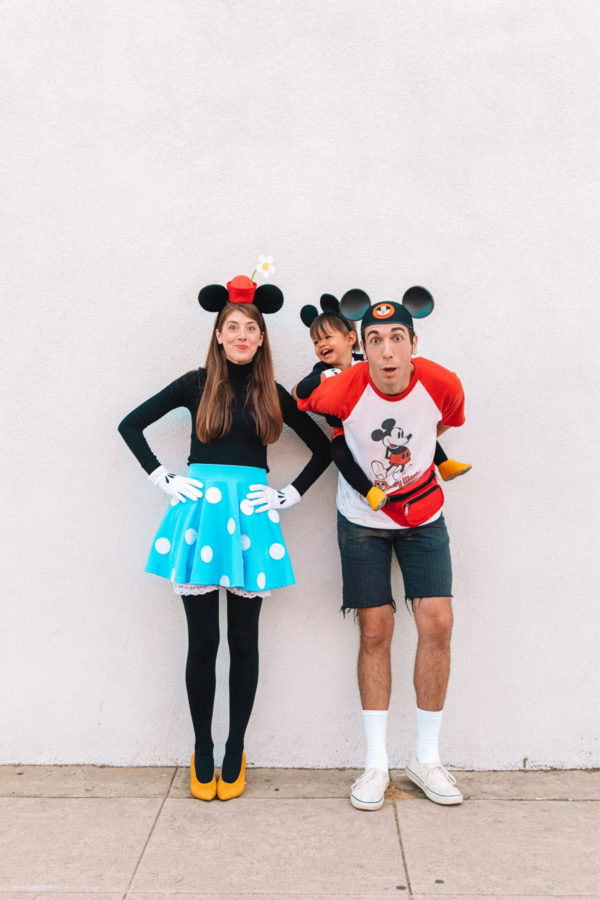 DIY Disney Family Costume Ideas - Mickey and Minnie Mouse