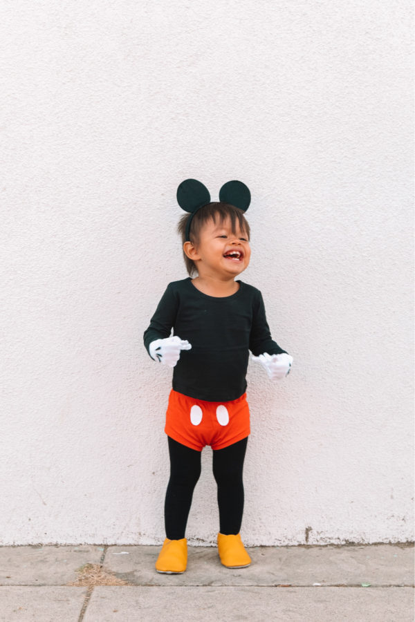 DIY Toddler Mickey Mouse Costume