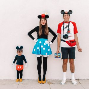 DIY Mickey + Minnie Mouse Family Costume