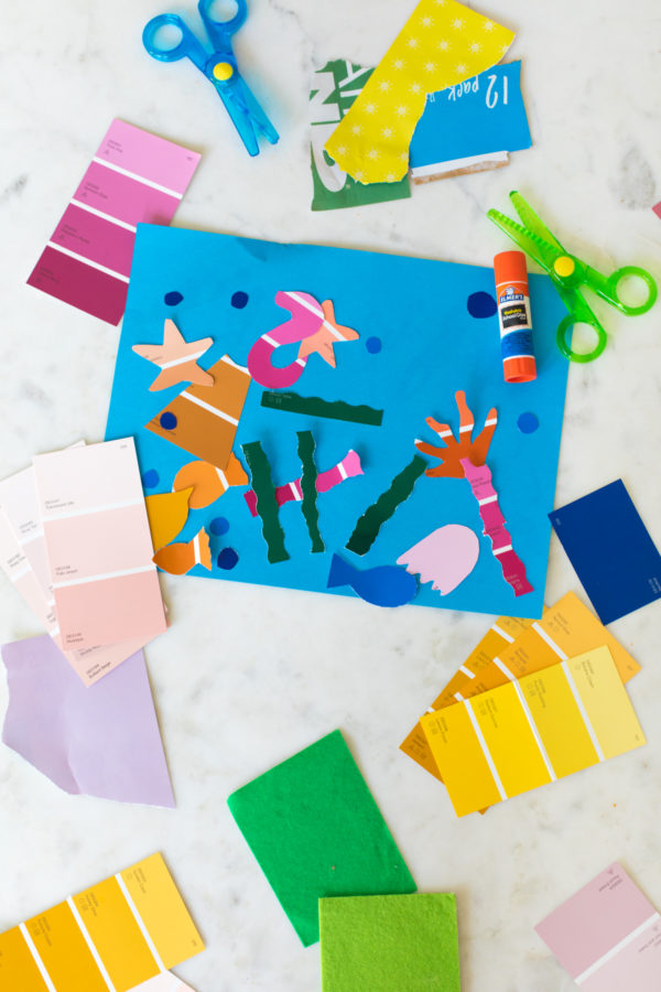 Free Toddler Activities: Make Scrap Art