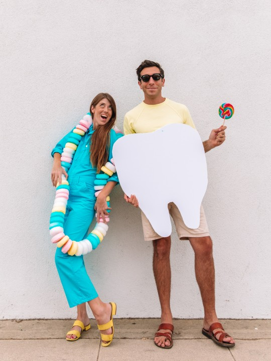 DIY Candy Necklace Costume (+ Sweet Tooth Couples Costume)
