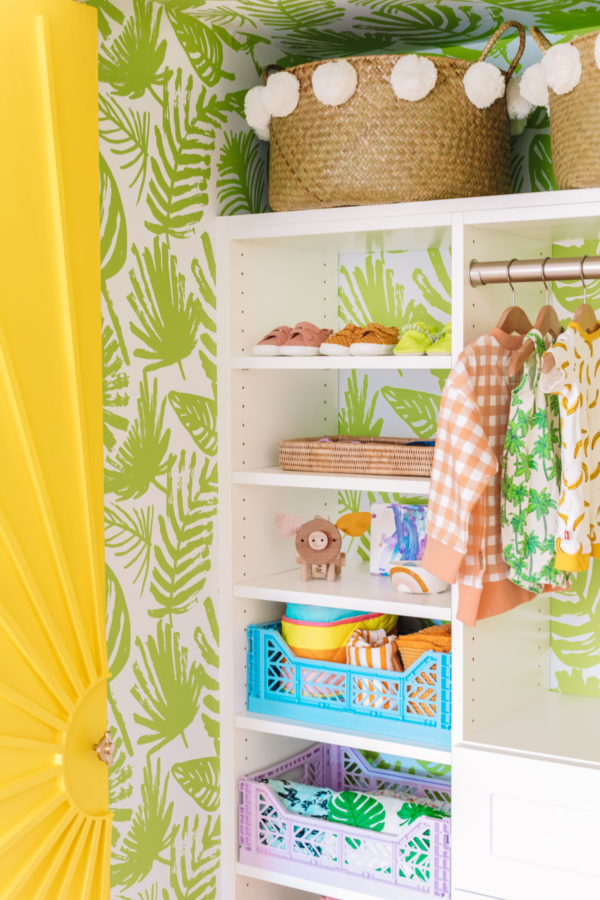 Colorful Nursery Closet