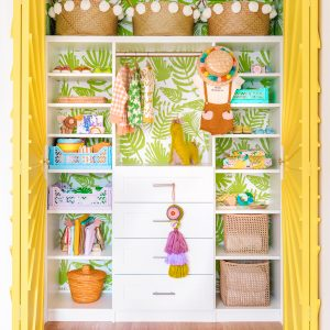 The Mindwelling: Colorful Nursery Closet Reveal