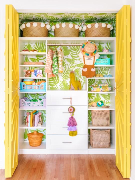 The Mindwelling: Colorful Nursery Closet Reveal