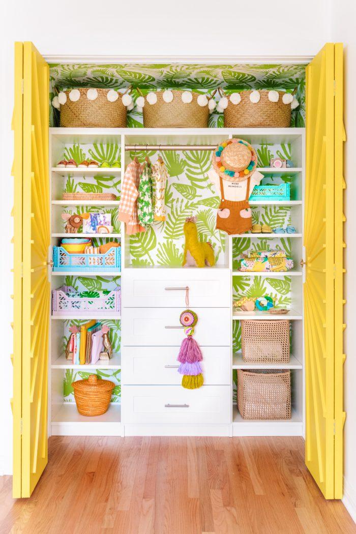 Colorful Nursery Closet