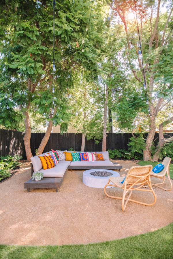 Colorful, Tropical Backyard Makeover