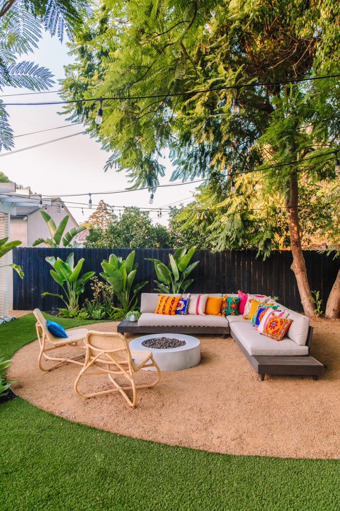 Bright Modern California Outdoor Seating Area