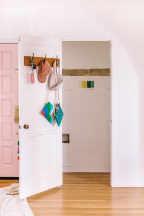 Functional and Colorful Entry Closet Ideas