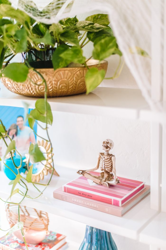 Halloween Shelf Decor - Yoga Skeletons
