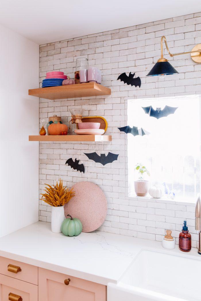 Halloween Home Tour - Paper Bats