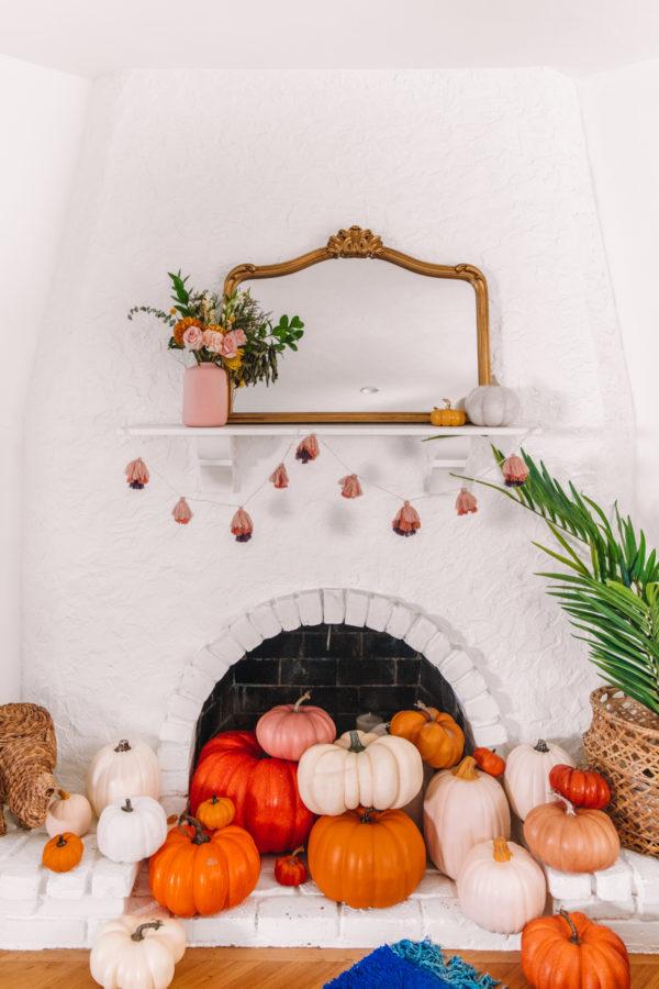 Pumpkin Fireplace for Halloween