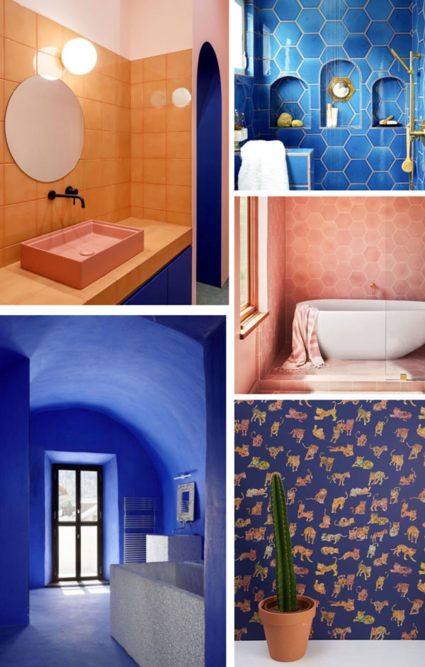 Blue and Terracotta Bathroom Ideas