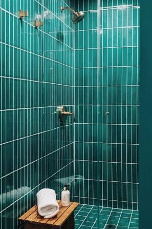 Vertical Tile in the Bathroom