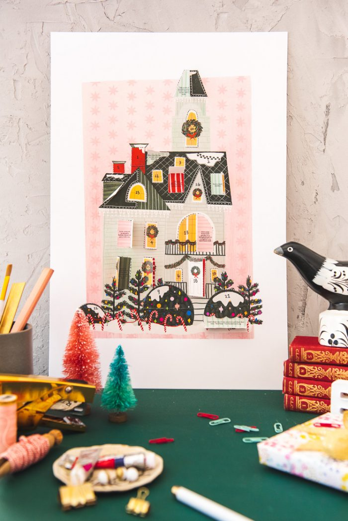 Christmas House Printable Advent Calendar