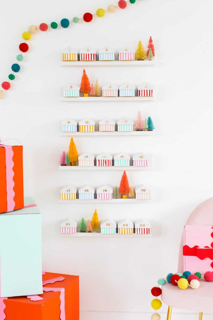 DIY Mini House Advent Calendar