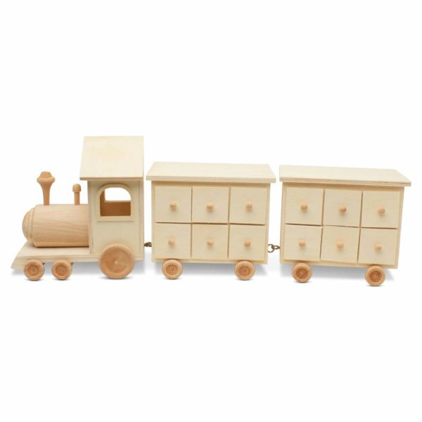 DIY wooden train advent calender