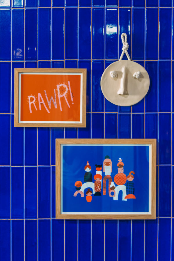 Blue and Terracotta Kids Bathroom Makeover