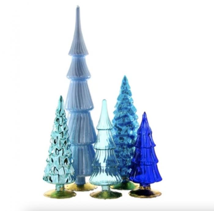 Colorful Glass Christmas Trees