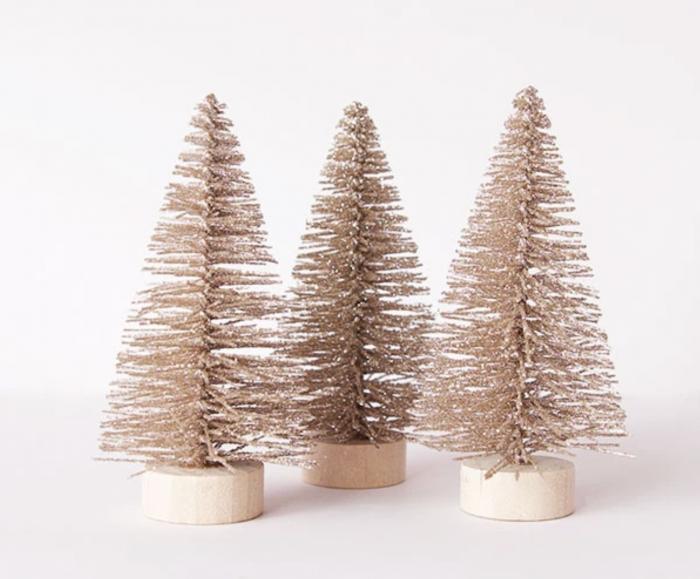 Metallic Bottle Brush Trees