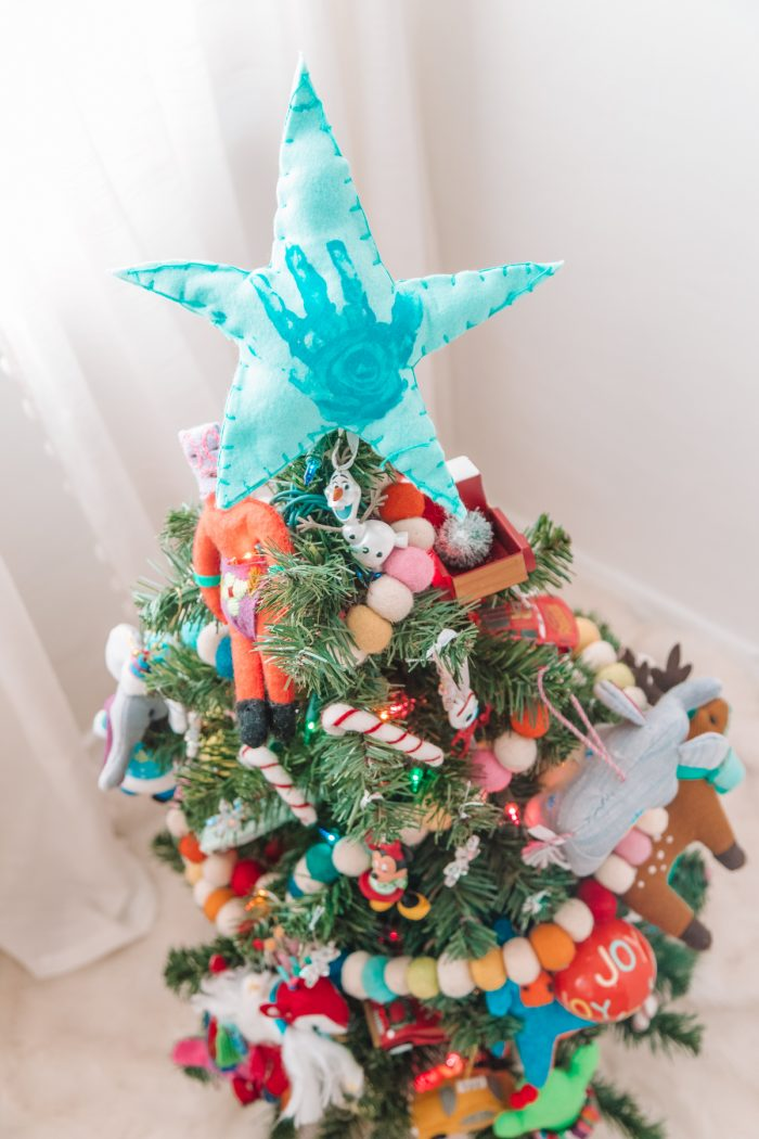 Handprint Star Tree Topper Idea for Toddlers