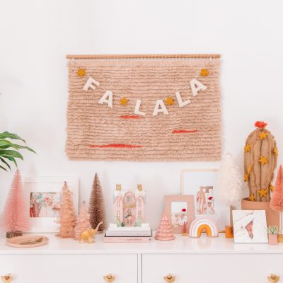 Pink and Neutral Christmas Decor